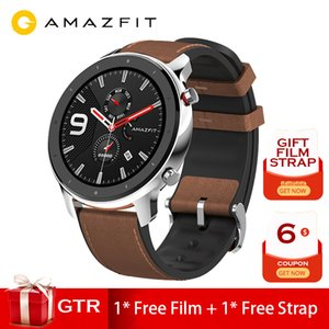 International version Amazfit GTR 47mm smart watchGPS AMOLED Screen 24-Day battery life watch Swimming 50ATM waterproof Silver