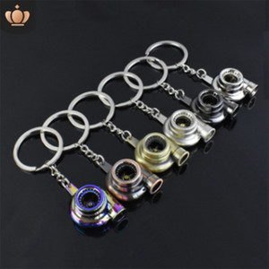 Wholesale LISTE LUKE New Fashion Wheel Keychain Car Wheel Nos Turbo Keychain Metal with Brake Turbocharger Keyring Auto Accessories