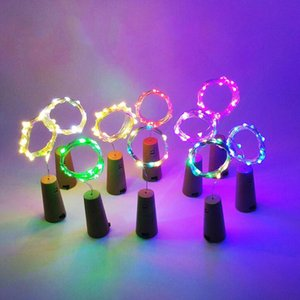 Wholesale 2M LED Lamp Cork Shaped Bottle Stopper Light Glass Wine LED Copper Wire String Lights For Xmas Party Wedding Halloween