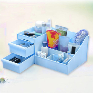 Wholesale 2017 Plastic Storage Box Jewelry Container Makeup Organizer Case Handmade DIY Assembly Cosmetic Organizer For Office