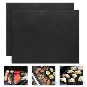 Wholesale teflon liner resale online - New arrive set Non stick BBQ Grill Mat Barbecue Baking Liners Reusable Teflon Cooking Sheets x40cm Cooking Tool
