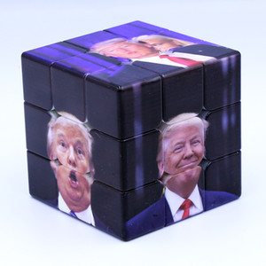 Wholesale Trump Magic Cube CM Magic Puzzle Funny Trump UV Print Cube Children Adult Education Intelligence Novelty Toy BH1934 CY