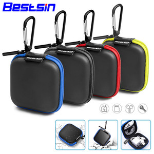 Wholesale Bestsin Earphone Holder Case Storage Bag Mini Zipper Hard Headphone Case Portable Earbuds Memory Card Pouch Box USB Cable