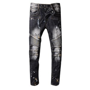 Men's Jeans Lightweight Jeans Men's Brand Denim Pants New Arrival Casual Solid Classic Straight Denim Designer Jeans Size 29-42 on Sale
