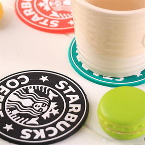 60pcs Silicone Coasters Cup Mat Cushion Holder Starbucks Sea-maid coffee Coasters Cup Mat Diameter 85mm Thickness 3mm Coffee Mat Coasters