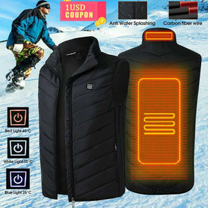 Men Women Electric Heated Vest Sleeveless Waistcoat Coat USB Thermal Clothing Winter Heating Jacket Outerwear Male Heated Vest