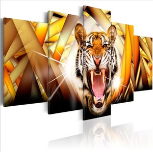 Wholesale tiger abstract oil paintings for sale - Group buy No Frame Set Abstract Animal Energy of the Tiger Art Print Frameless Canvas Painting Wall Picture Home Decoration