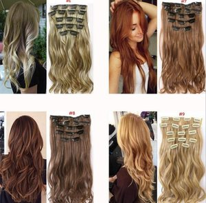 Europe and the United States fashion high temperature silk fiber hair 16 card no trace hair extensions factory direct spot support wholesale on Sale