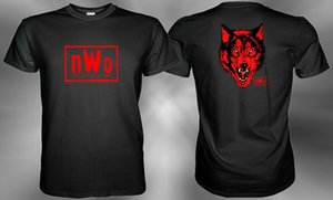 Wholesale nWo Red Wolfpack New World Order Wolfpac T shirt Size S M L XL XL XL Hip Hop Style Tops Tee Shirt Casual Man Short Sleeve Leisure