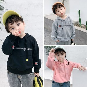 Wholesale C Letter Brand girls boys hoodies Kids Cotton designer Hooded sweater Pullover Top children students Sweatshirt kids fall Clothing LJJA2895
