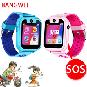 Wholesale 2019 New Smart Watch Lbs Kid Smartwatches Baby Watch For Children Sos Call Location Finder Locator Tracker Anti Lost Monitor+box J190524