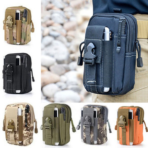 Wholesale Wallet Pouch Purse Phone Case Outdoor Tactical Holster Military Molle Hip Waist Belt Bag with Zipper for iPhone Samsung LG SONY