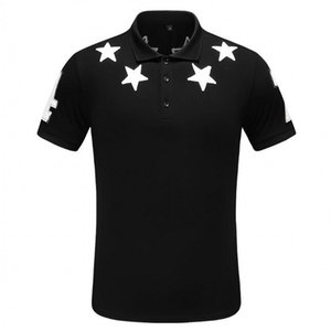 Wholesale mens designer polo shirt brand letter Print Top t shirts for Italy Fashion polo shirt men High street Cotton tags Tops t shirts