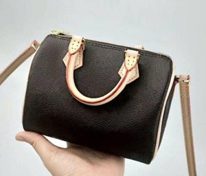 Wholesale 2019 new High quality oxidize cowhide speedy cm Hot Sell Fashion bag women bag Shoulder bags Lady Totes handbags bags stamping
