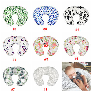Wholesale Baby Floral Nursing Soft Pillow Cover Infant Cuddle U Shaped Pillowcase Car Sofa Cushion Cover Kids Feeding Waist Pillowcase hot LJJA2272