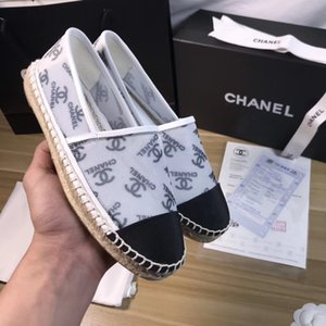 Fashion Handmade Women's Low-Top Espadrilles Fisherman Mesh Print Shoe Casual Sneakers Rubber Sole Ladys Flat Slip-On Dress Shoes 35-42