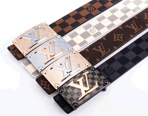 Wholesale 2019 design Louis teh vuitton Cowhide belt Genuine Leather belt for mens women strap man Jeans dress belts
