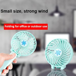 Car Portable USB Battery Fan Mini Ventilation Foldable Air Conditioning Fans Foldable Cooler Operated Hand Held Cooling Fan