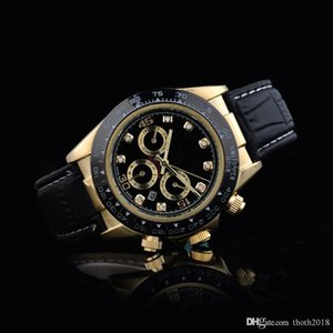 Wholesale relogio masculino mens watches Luxury Watch dress designer fashion Black Dial Calendar gold Bracelet Folding Clasp Master Male gifts couples