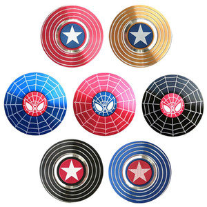 Hand Spinner Toys Captain America Spider-Man Fidget Spinner Fingertip Gyro Finger Spinning Top Decompression Anxiety Toys