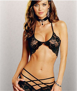 Wholesale Womens Designer Sexy Set Sexy Lace See Through Blouses Bikinis Three Point Type Sexy Underwear Suits