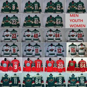 Hockey Minnesota Wild Jersey Mikko Koivu Zach Parise Mat Zuccarello Ryan Suter Eric Staal Jason Zucker Devan Dubnyk Brad Hunt Spurgeon Green