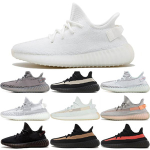 Wholesale Kanye West V2 Men Desinger Running Shoes Women Trainers Zebra Black Bred Cream White Sesame Best Sports Zapatos Sneakers Size