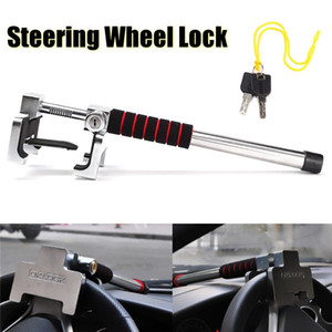 Wholesale Freeshipping Universal Car Truck SUV Aluminum Rotary Steering Wheel Lock Anti Theft Security