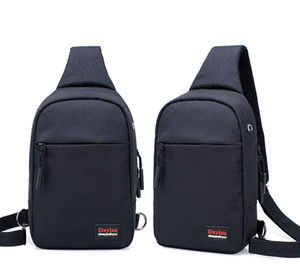 Wholesale Men s Messenger Bag High Quality Polyester Mobile Phone Case Mezzanine Zipper Bag