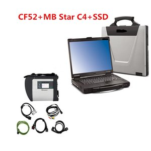 mb star c4 mercedes benz sd оптовых-CF52 MB Star C4 SD Connect SSD Диагностика системы Compact Mercedes Диагностика Мультиплексор Для Benz Diagnose