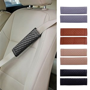 Wholesale Universal Car Seat Belts Covers pieces Mens Leather Black Car Padding Seat Belt Covers In Interior Accessories