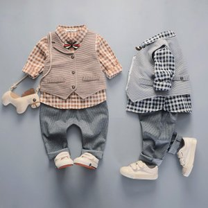 2019 NEW fashion baby boys kids blazers boy suit for weddings prom formal lattice dress wedding boy suits Birthday Party Gift