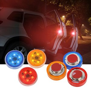 Wholesale 2 Pieces LED Car Door Opening Warning Light Safely Flash Lights Magnetic Control Anti Collision Strobe Flashing Car styling