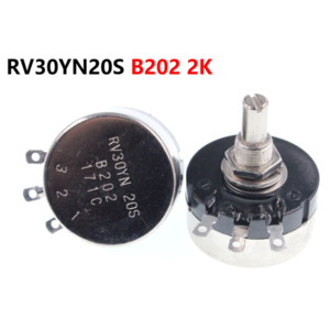 Wholesale potentiometer single for sale - Group buy Single turn carbon film potentiometer RV30YN20S B202 K W adjustable resistor
