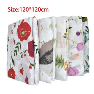 Wholesale 100 Cotton Baby Swaddles Soft Newborn Flower Blankets Four Seasons Cotton Yarn Blanket Bath Towel Baby Deken