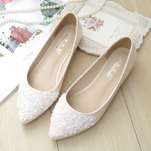 Wholesale 209 Flats Shoes Women Ballet Princess Shoes For Casual Crystal Boat Rhinestone Women Flats PLUS Size