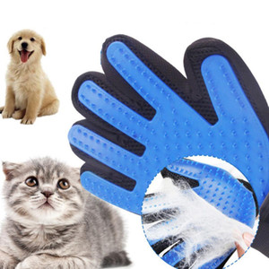 Dog hair removal gloves comb silicone soft use pet cat gloves beauty bath hair cleaning comb efficient massage pet supplier