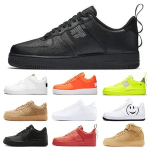 Wholesale Dunk utility Men Women Casual Shoes all Black White Sports Skateboarding High Low Cut Wheat Brown green Trainers Sneakers size