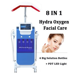 botellas de oxigeno al por mayor-4 Botellas Hydro Facial Machine Hydro Oxygen Jet Peel Cara Limpiador Bio Microcurrent LED Photon Hydra Facial Máquinas faciales