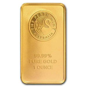1 Oz Gold Bar Perth Mint Minted - Black Swan Gold Plated Bullion Bar No Magnetic 10pcs lot Free Shippping