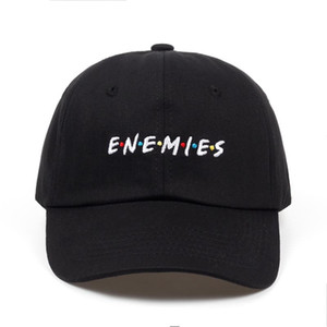 Wholesale 2018 new Frenemies Enemies Baseball Cap Curved Bill Dad Hat Cotton fashion snapback Hip hop cap hats