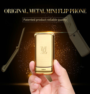 Wholesale gsm mp3 player video resale online - Unlocked V9 Mini Flip Mobile Phone quot Small Feature Phone Wireless Bluetooth Dialer FM MP3 Metal Case Mobile CellPhone GSM Quad Bands