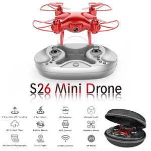 Wholesale 1pcs Mini Drone P P Aerial HD Pocket Quadcopter Air Pressure Fixed Height Remote Control Plane Toy Drones Aircraft S26