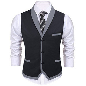 Wholesale New Arrival Groom Vests Slim Fit Business Suit Vest Mens Vest Italian Fashion Groomsmen Waistcoat for Wedding Party