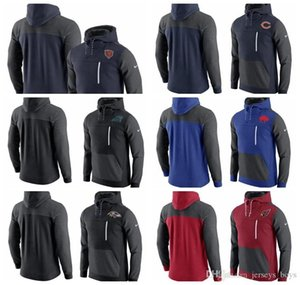 Wholesale 2019 new men's Chicago Carolina Bears Panthers Buffalo Baltimore Bills Ravens Aizona AV15 Cardinals Historical Fleece Pullover Hoodie