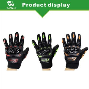 Wholesale Brand New Terylene Knitted Fabric Gloves Unisex Motorcycle Electric Bicycle Bike Male and Female Fashionable Riding Gloves Red Orange Green
