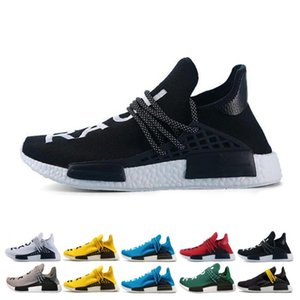 Wholesale New High Quality Human Race Women Men Running Shoes Multi Black Yellow Blue Green Grey Red White Breathable Outdoor Casual Sports Sneaker