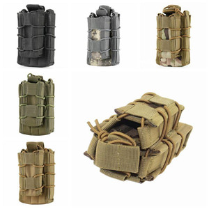 Wholesale molle mag pouch resale online - 5 Colors Universal Tactical Equipment Pocket Durable Molle Accessory Bag Tactical Waistpack Mag Pouch Home Storage Bags CCA11451 A