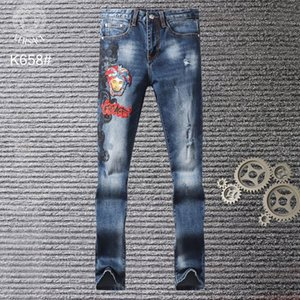 Wholesale NEW STRYLE SS SUMMER FAMOUS VESM2 CASUAL BRAND DESIGNERS DESIGN WHITE SLIM FASHIONABLE JEANS DIESEL MOTORCYCLE TROUSERS PANTS MEN WOMAN