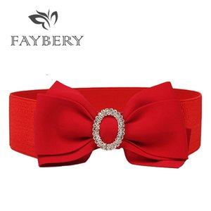 New Design Wide Belt for Women Female Dress Belts Decorate Waistband Fashion Faux Diamonds Buckle Belt Party for Woman
